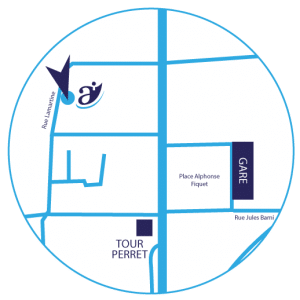 plan d'accès cabinet d'avocats BFBW rue Lamartine Amiens