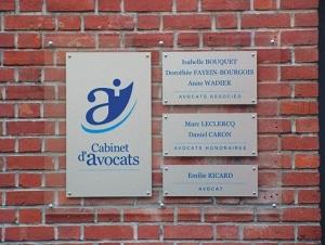 Façade cabinet d'avocats BFBW amiens rue Lamartine